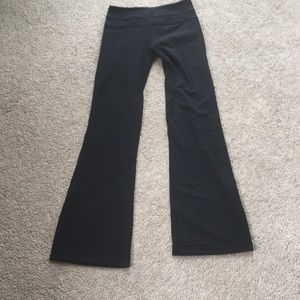 Lululemon black flare leggings.